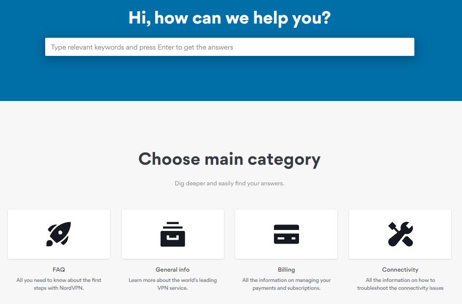Nord VPN Category
